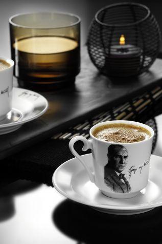 Kütahya Porselen - Kütahya Porselen Atatürk Kahve Takımı 10429
