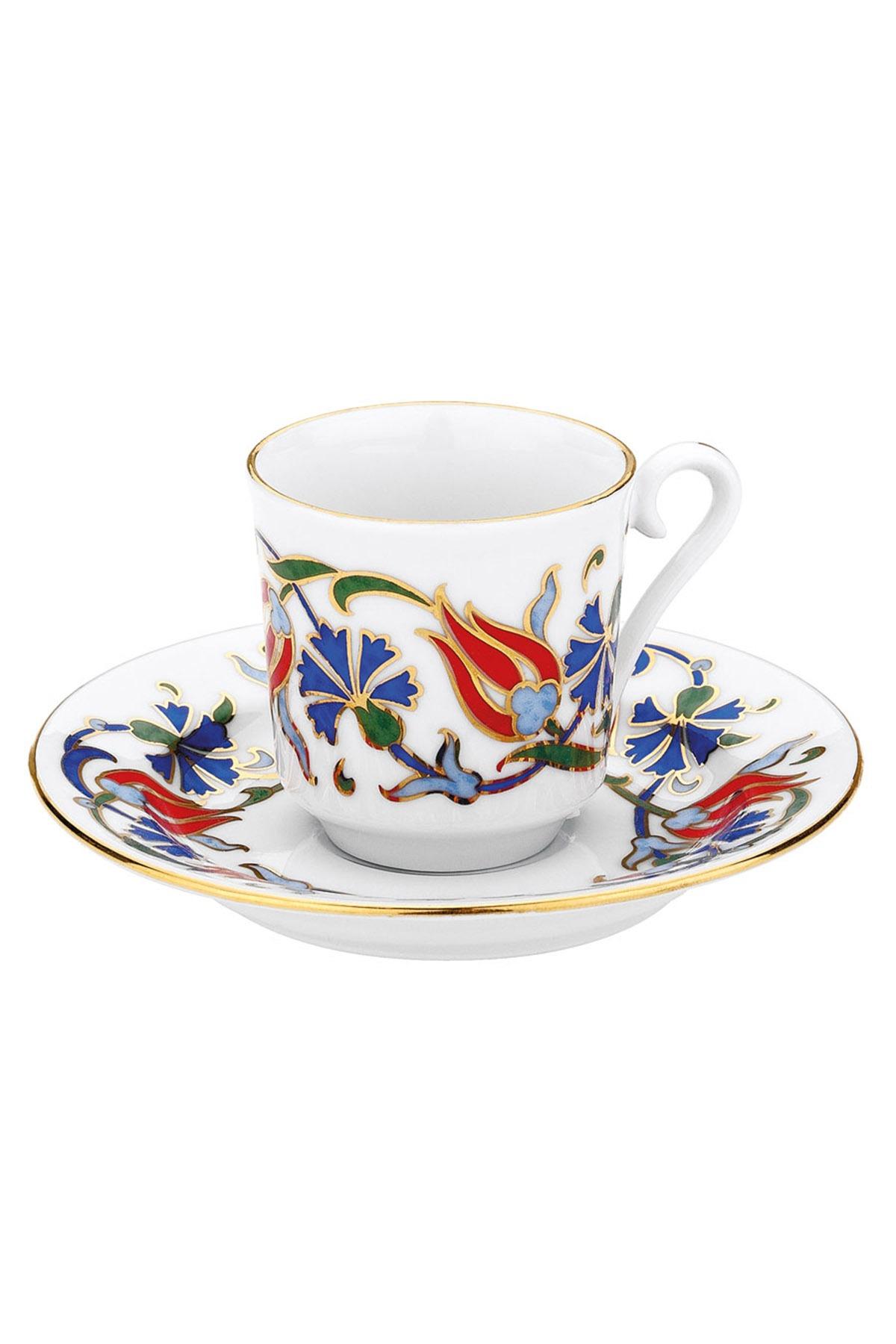 KÜTAHYA PORSELEN - Kütahya Porselen 460 Desen Kahve Fincan Takımı