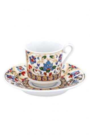 KÜTAHYA PORSELEN - Kütahya Porselen 3701 Desen Kahve Fincan Takımı