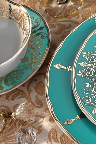 Kütahya Porselen - Kütahya Porselen İris 97 Parça 7770 Desen Yemek Takımı