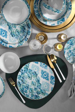 Kütahya Porselen - Kütahya Porselen Isabella Altın Fileli Yemek Seti