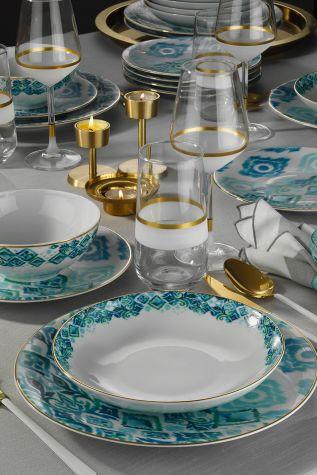 Kütahya Porselen Isabella Altın Fileli Yemek Seti - Thumbnail (1)