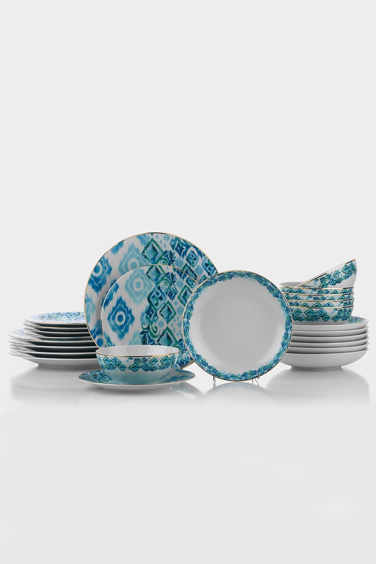 Kütahya Porselen Isabella Altın Fileli Yemek Seti