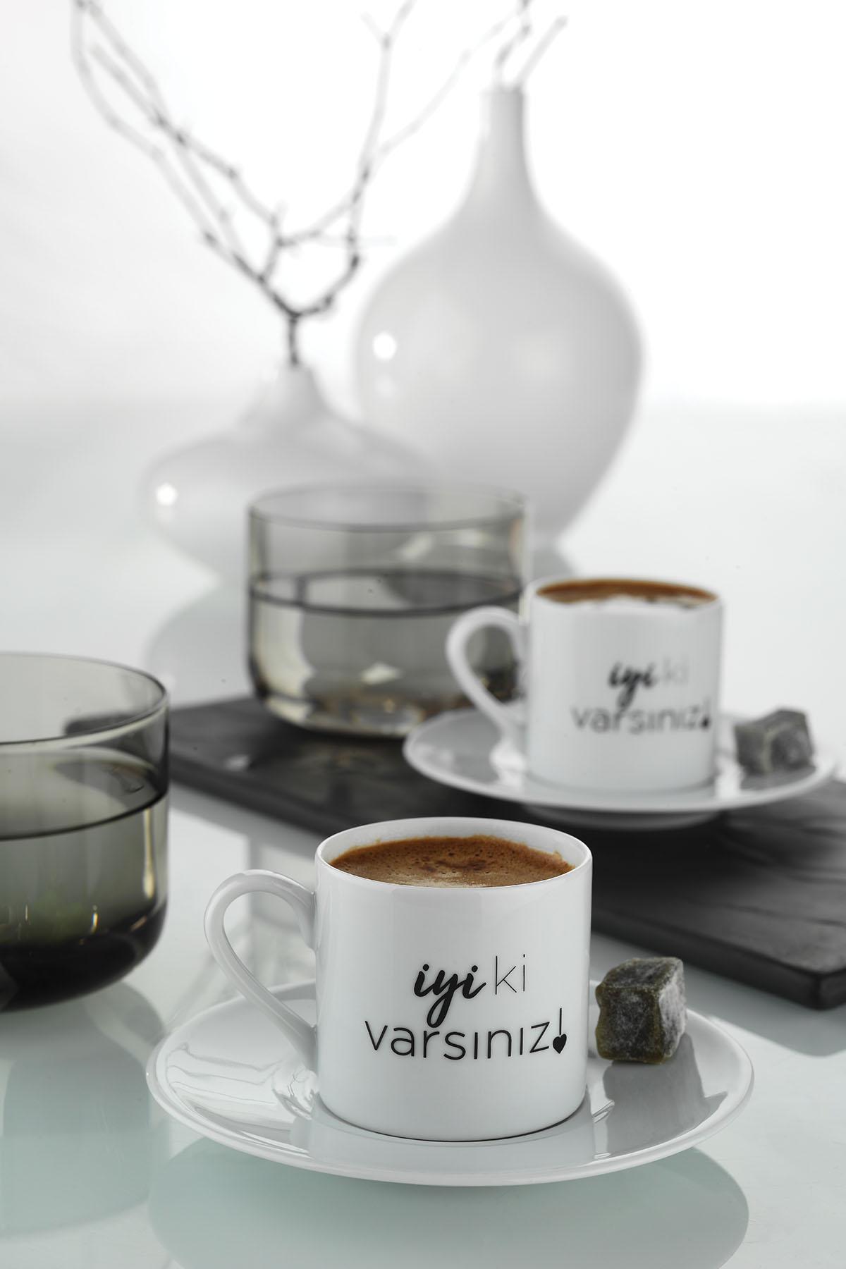 Kütahya Porselen İyi Ki Varsın Kahve Takımı