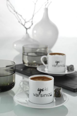 Kütahya Porselen - Kütahya Porselen İyi Ki Varsın Kahve Takımı
