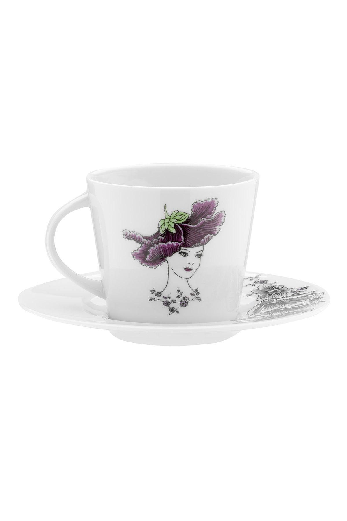 Kütahya Porselen - Kütahya Porselen Kadınlarım Serisi 9433 Desen Çay Fincan Takımı