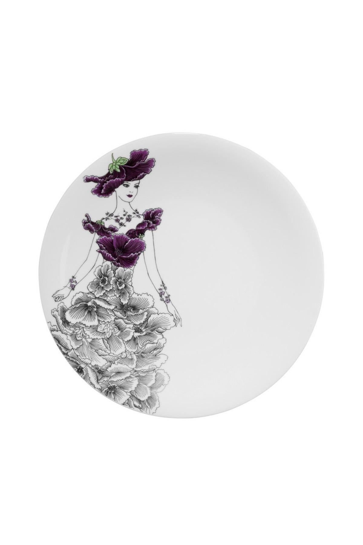 Kütahya Porselen - Kütahya Porselen Kadınlarım Serisi 9433 Desen Servis Tabağı