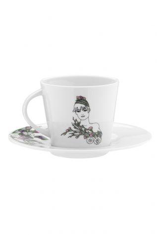 Kütahya Porselen - Kütahya Porselen Kadınlarım Serisi 9438 Desen Çay Fincan Takımı