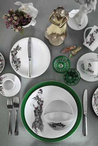 Kütahya Porselen - Kütahya Porselen Kadınlarım Serisi 9438 Desen 24 Parça Yemek Seti