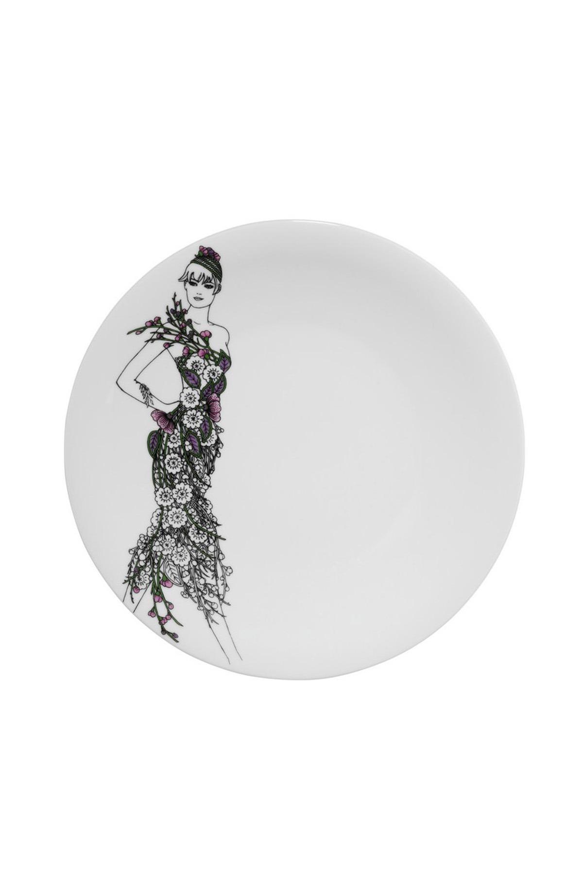 Kütahya Porselen - Kütahya Porselen Kadınlarım Serisi 9438 Desen Servis Tabağı