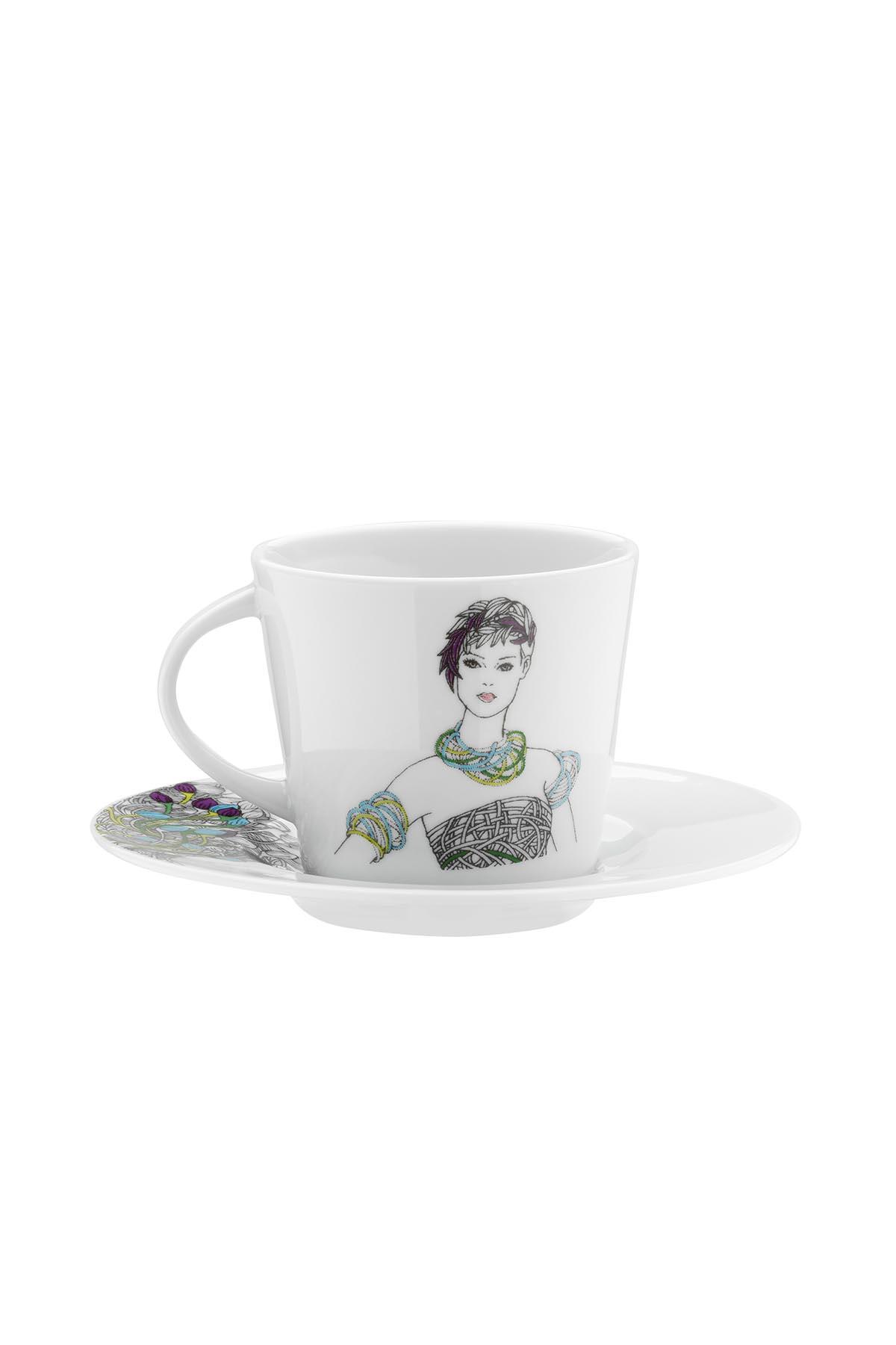 Kütahya Porselen Kadınlarım Serisi 9440 Desen Çay Fincan Takımı