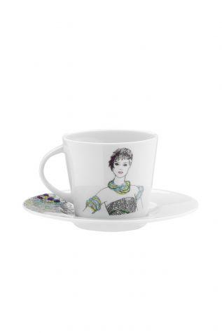 Kütahya Porselen - Kütahya Porselen Kadınlarım Serisi 9440 Desen Çay Fincan Takımı