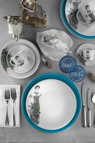 Kütahya Porselen - Kütahya Porselen Kadınlarım Serisi 9440 Desen 24 Parça Yemek Seti
