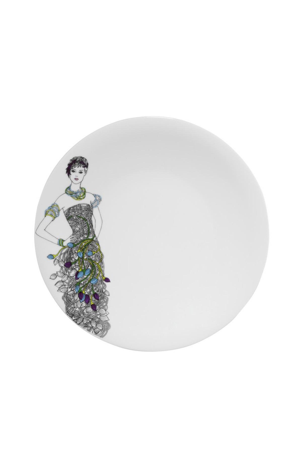 Kütahya Porselen - Kütahya Porselen Kadınlarım Serisi 9440 Desen Servis Tabağı