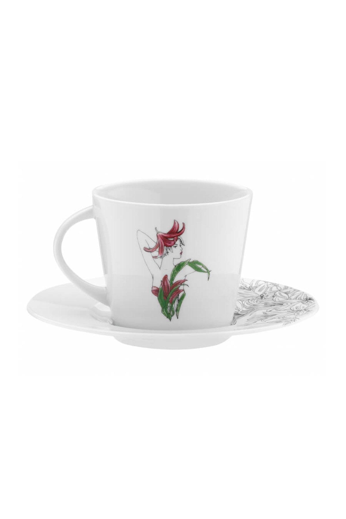KÜTAHYA PORSELEN - Kütahya Porselen Kadınlarım Serisi 9441 Desen Çay Fincan Takımı