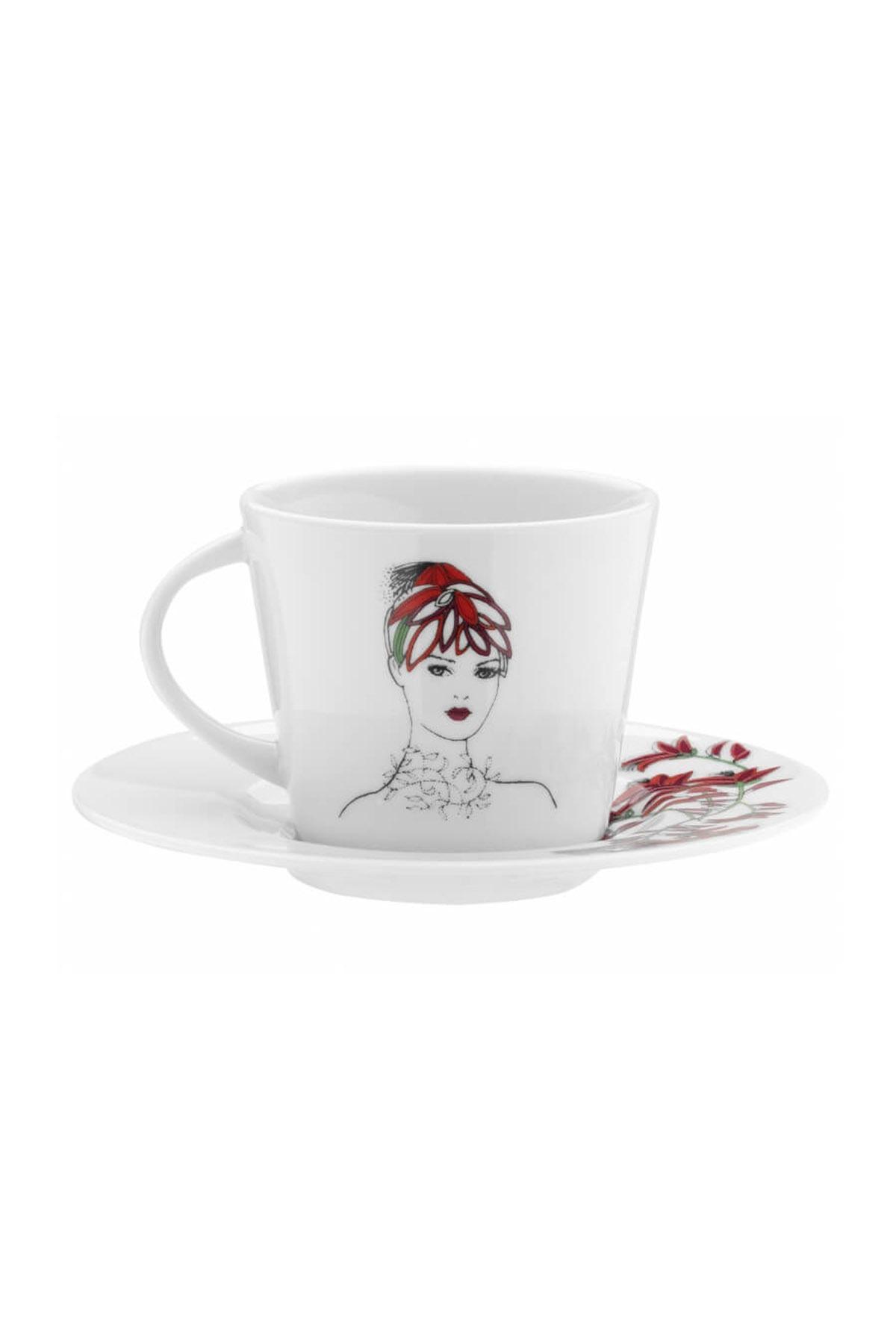 KÜTAHYA PORSELEN - Kütahya Porselen Kadınlarım Serisi 9445 Desen Çay Fincan Takımı