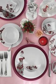 Kütahya Porselen Kadınlarım Serisi 9445 Desen 24 Parça Yemek Seti - Thumbnail