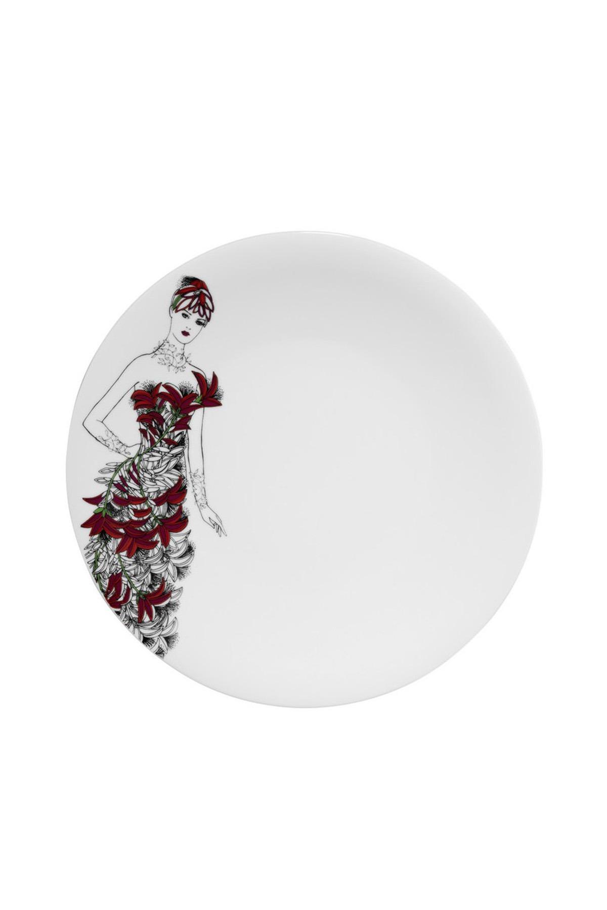 Kütahya Porselen - Kütahya Porselen Kadınlarım Serisi 9445 Desen Servis Tabağı
