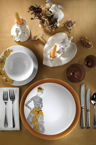 Kütahya Porselen - Kütahya Porselen Kadınlarım Serisi 9446 Desen 24 Parça Yemek Seti