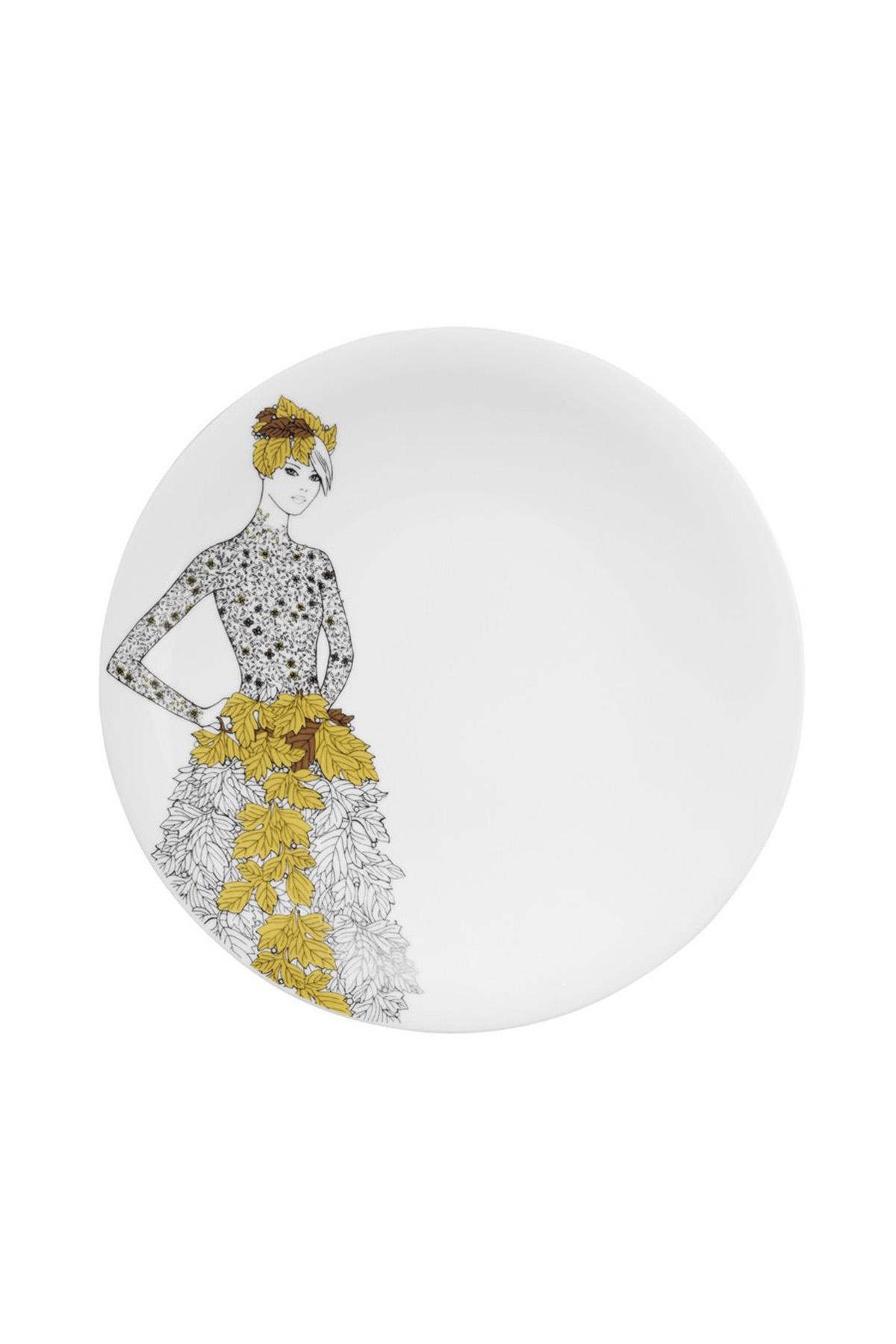 Kütahya Porselen Kadınlarım Serisi 9446 Desen 24 Parça Yemek Seti