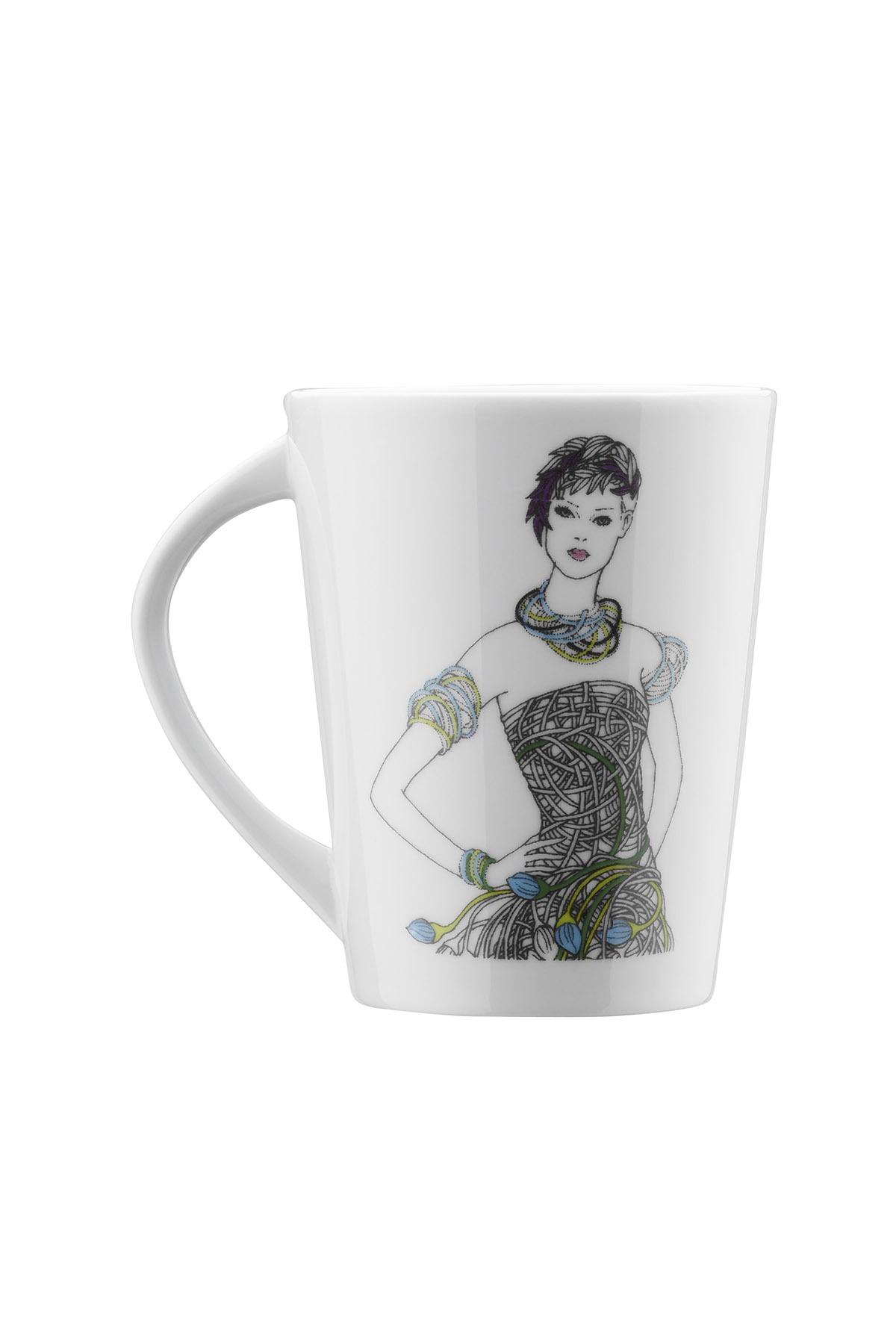 Kütahya Porselen - Kütahya Porselen Kadınlarım Serisi 9440 DesenMug Bardak