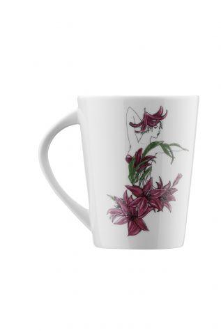 Kütahya Porselen - Kütahya Porselen Kadınlarım Serisi 9441 Desen Mug Bardak