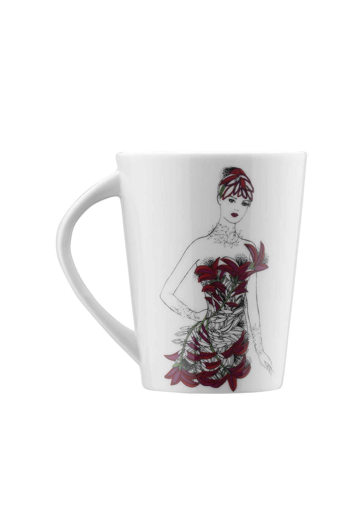 Kütahya Porselen - Kütahya Porselen Kadınlarım Serisi 9445 Desen Mug Bardak