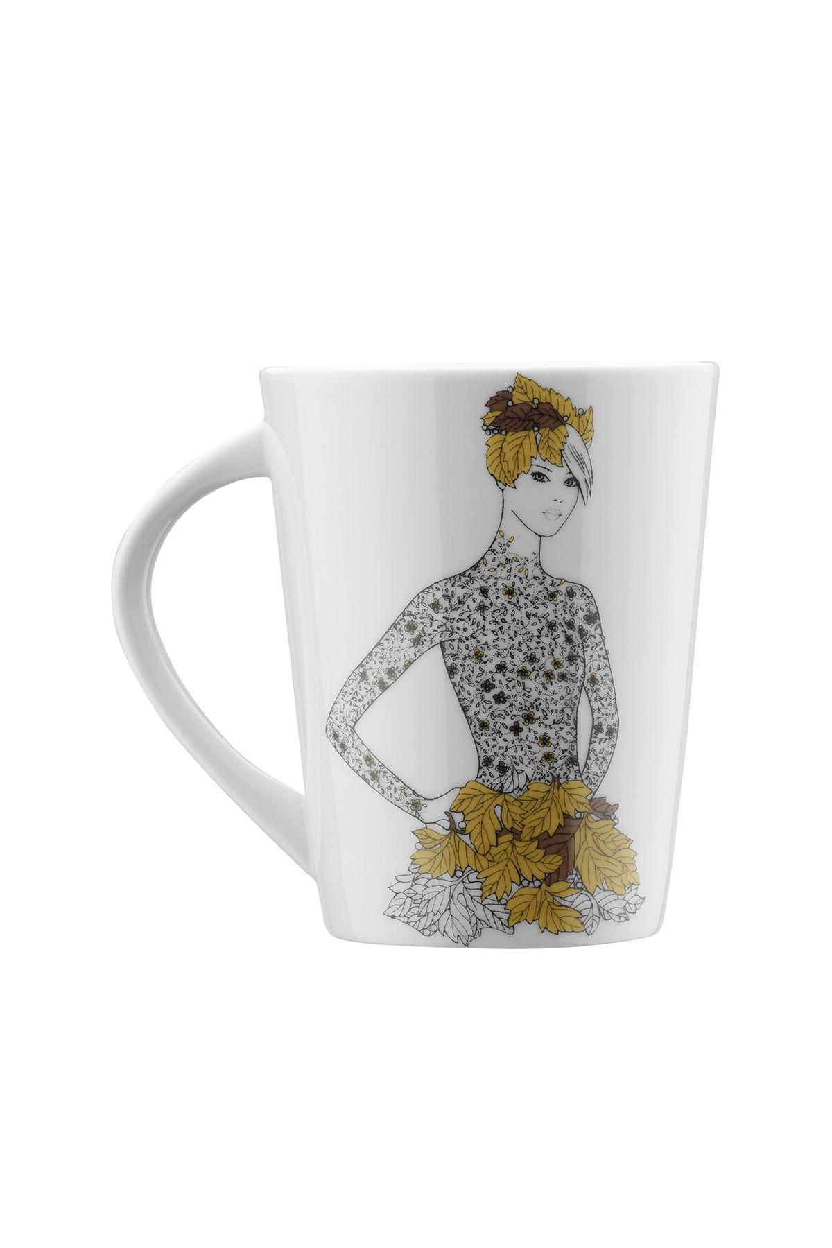 Kütahya Porselen Kadınlarım Serisi 9446 Desen Mug Bardak