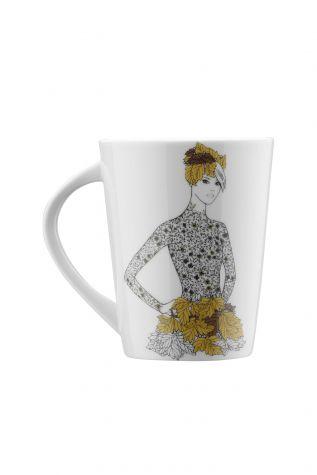 Kütahya Porselen - Kütahya Porselen Kadınlarım Serisi 9446 Desen Mug Bardak