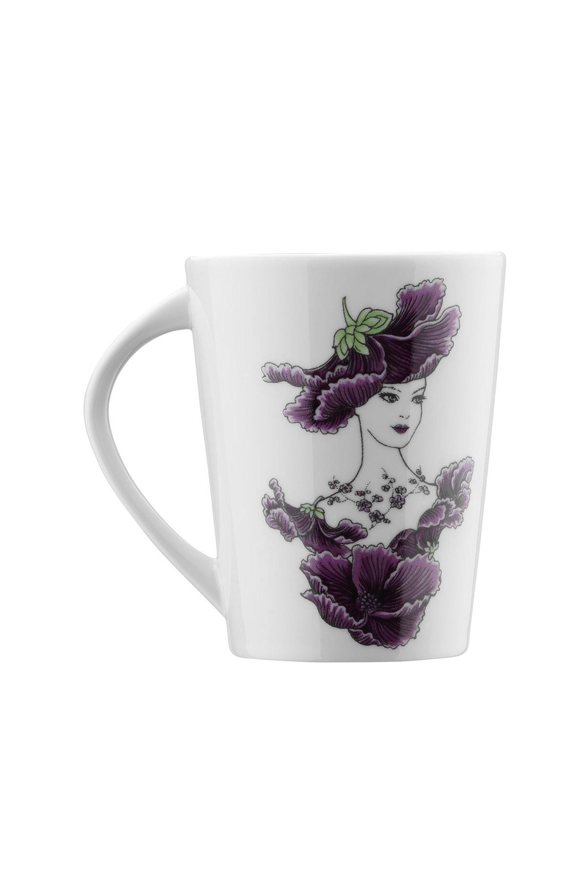 Kütahya Porselen - Kütahya Porselen Kadınlarım Serisi 9433 Desen Mug Bardak