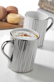 Kütahya Porselen Forest 2′li Mug Bardak Platin 10925 - Thumbnail