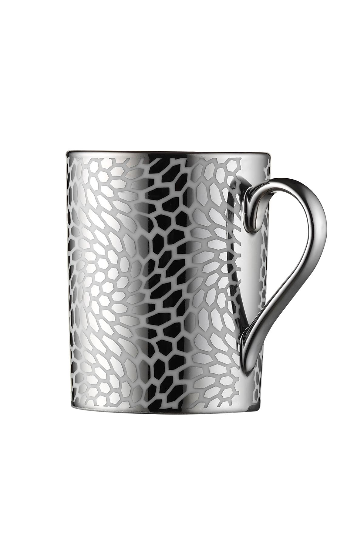 Kütahya Porselen Forest 2 prime;li Mug Bardak Platin 10927