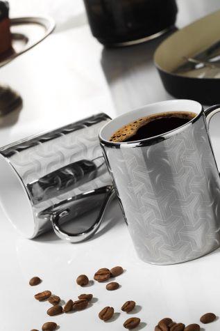 Kütahya Porselen - Kütahya Porselen Forest 2 prime;li Mug Bardak Platin 10930