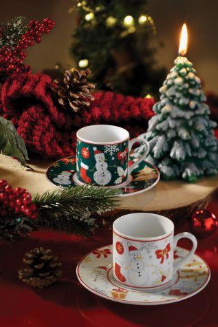Kütahya Porselen - Kütahya Porselen Kardan Adam Kahve Takımı