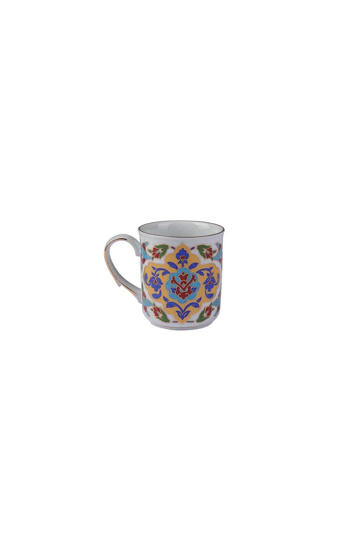 Kütahya Porselen Kupa Bardak Dekor No:690