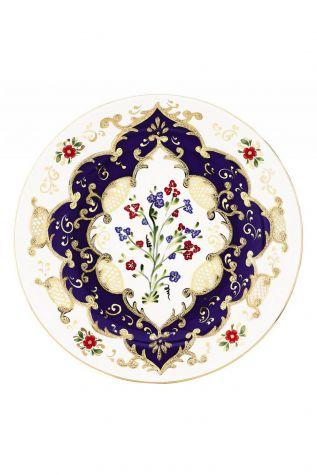Kütahya Porselen - Kütahya Porselen Lenger 25 cm Duvar Tabağı 3860 Lacivert