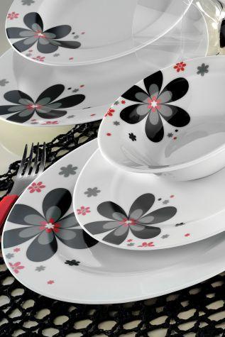 Kütahya Porselen - Kütahya Porselen 24 Parça 43935 Desen Yemek Seti