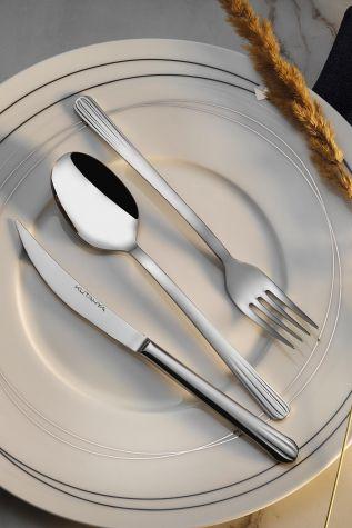 Kütahya Porselen - Kütahya Porselen Lotus 84 Parça Çatal Bıçak Takımı