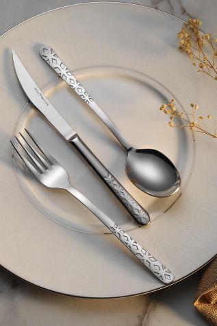 Kütahya Porselen - Kütahya Porselen Luna 84 Parça Çatal Bıçak Takımı