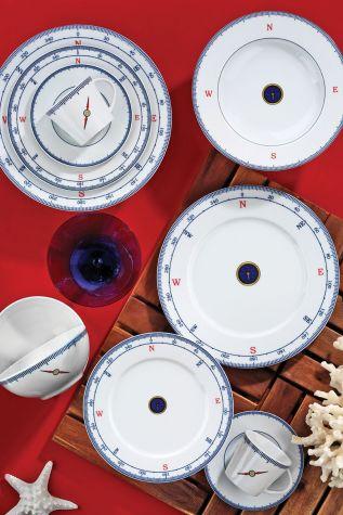 Kütahya Porselen - Kütahya Porselen Marine Serisi 24 Parça 5229 Desen Yemek Seti