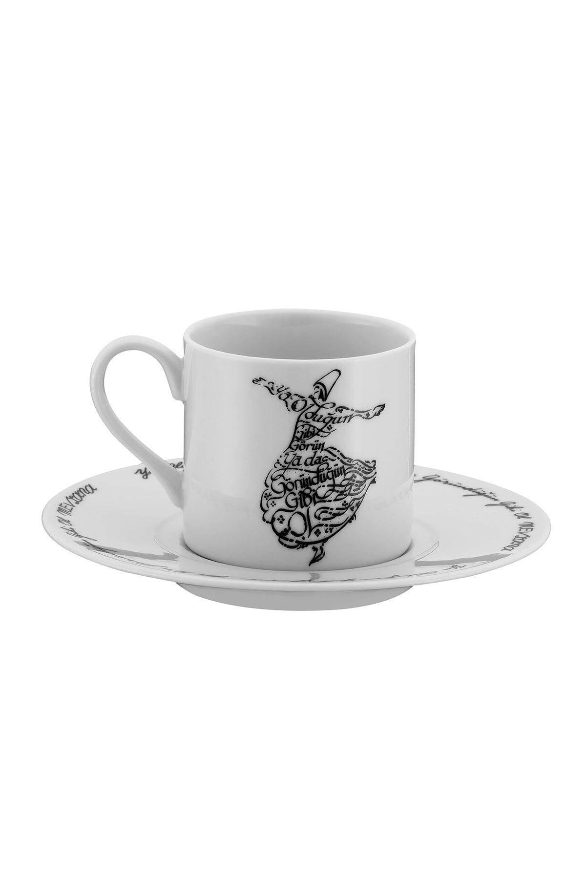Kütahya Porselen Mevlana Kahve Takımı 10449