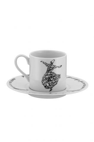 Kütahya Porselen - Kütahya Porselen Mevlana Kahve Takımı 10449