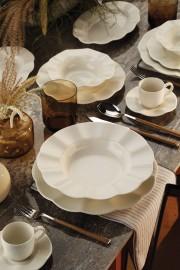 Kütahya Porselen Milena 62 Parça Krem Yemek Takımı - Thumbnail