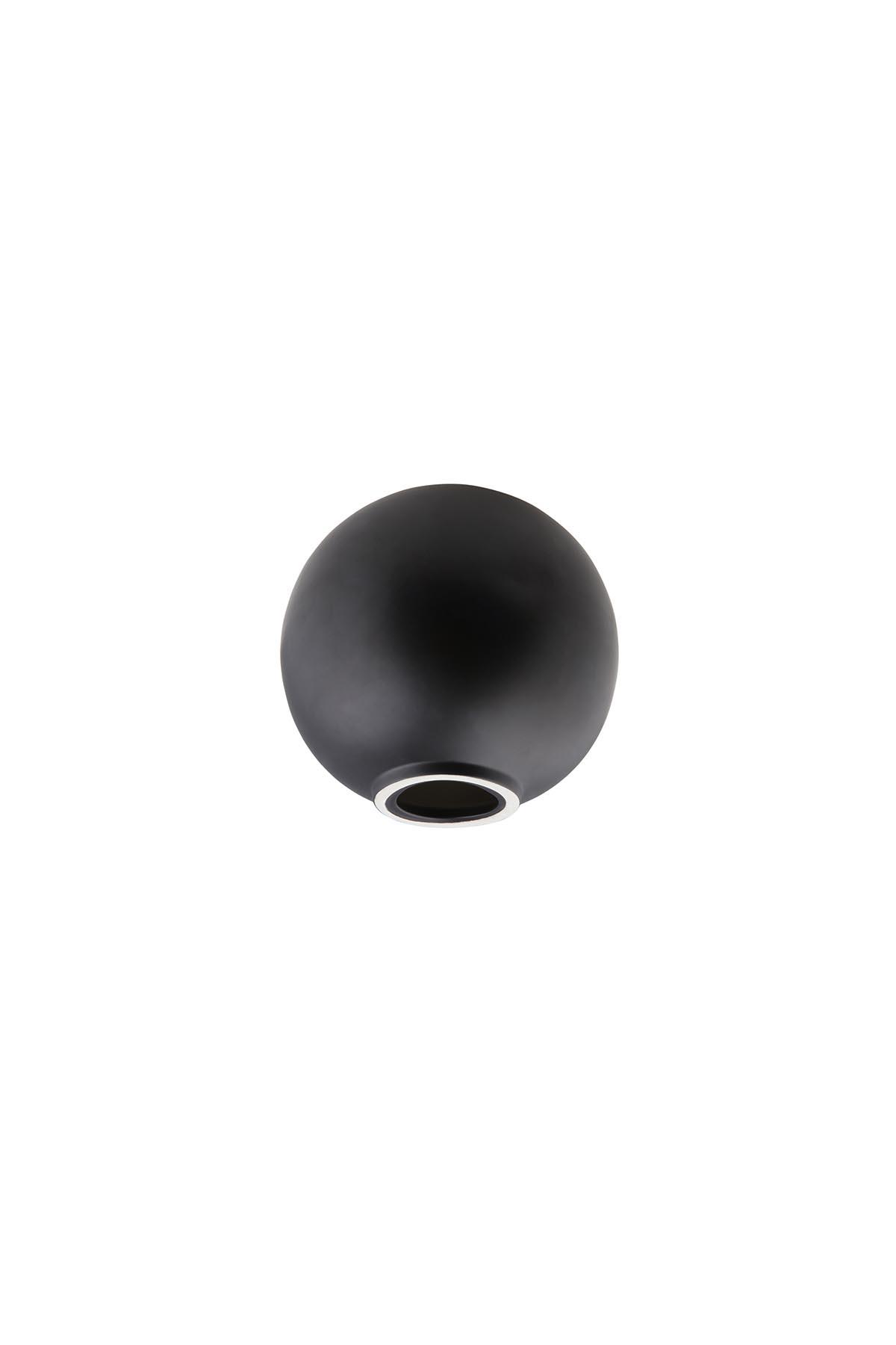 Kütahya Porselen Modern 14 cm Küre Mat Siyah