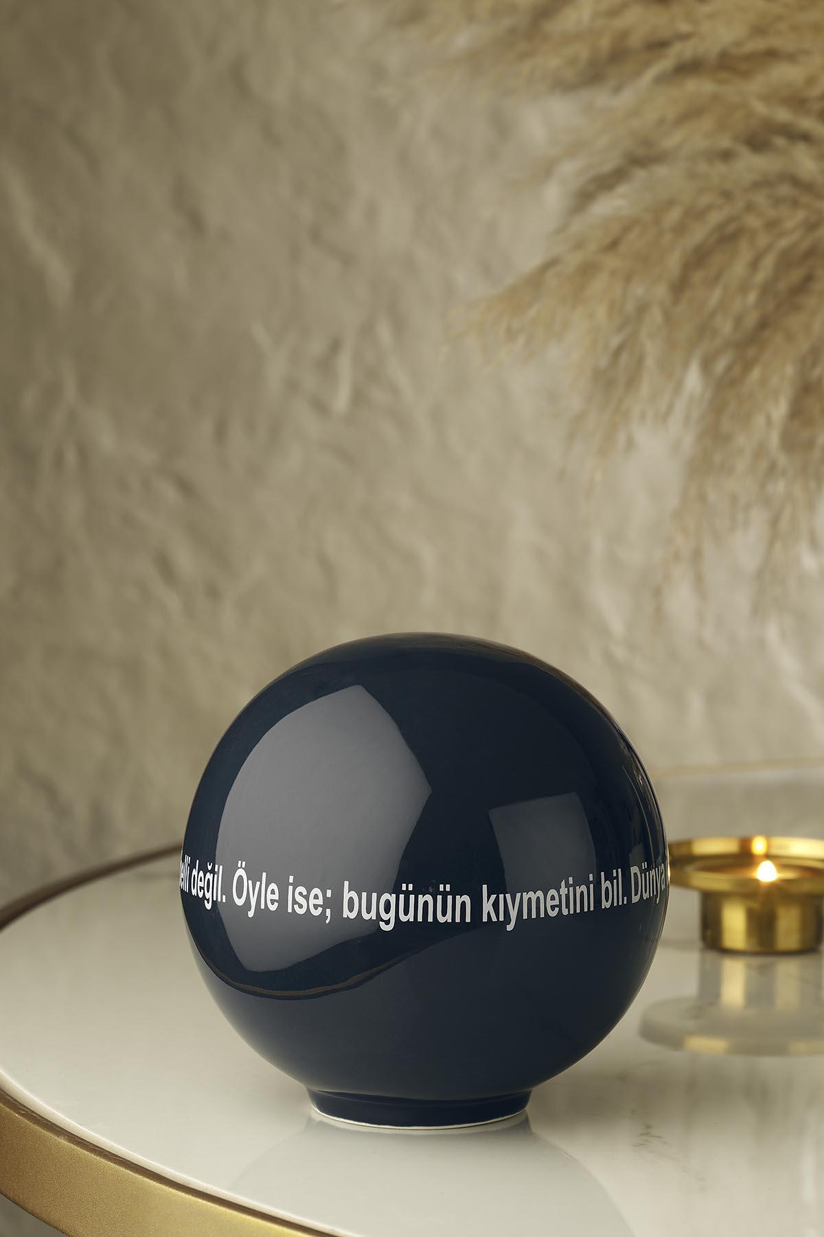 Kütahya Porselen Modern 14 cm Küre Lacivert 10962