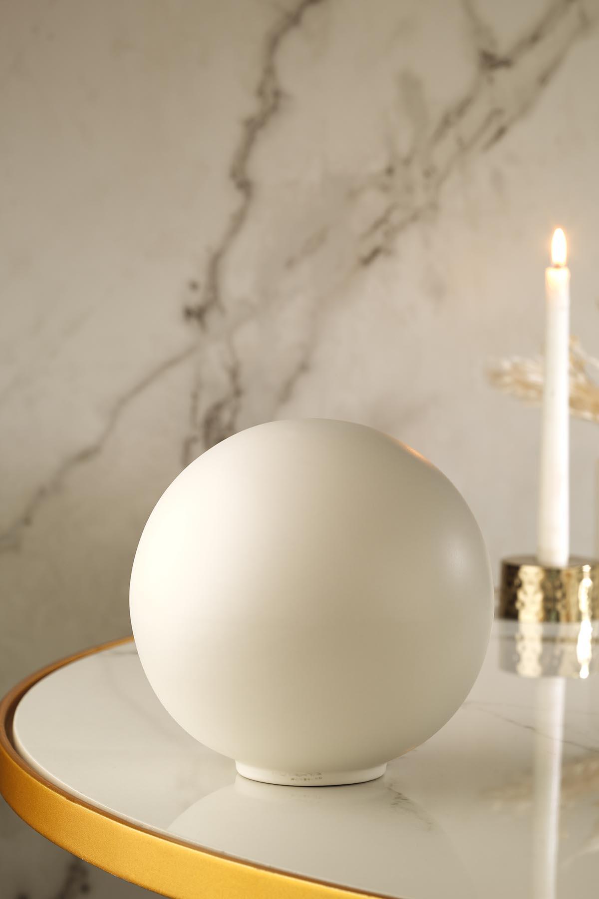 Kütahya Porselen Modern 19 Cm Kure Mat Krem