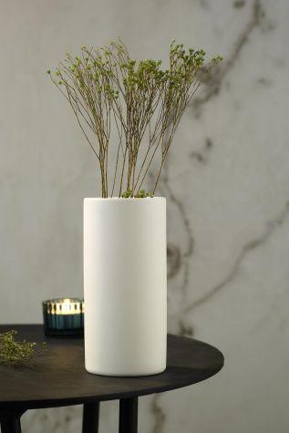 Kütahya Porselen - Kütahya Porselen Modern 20 cm Vazo Mat Krem