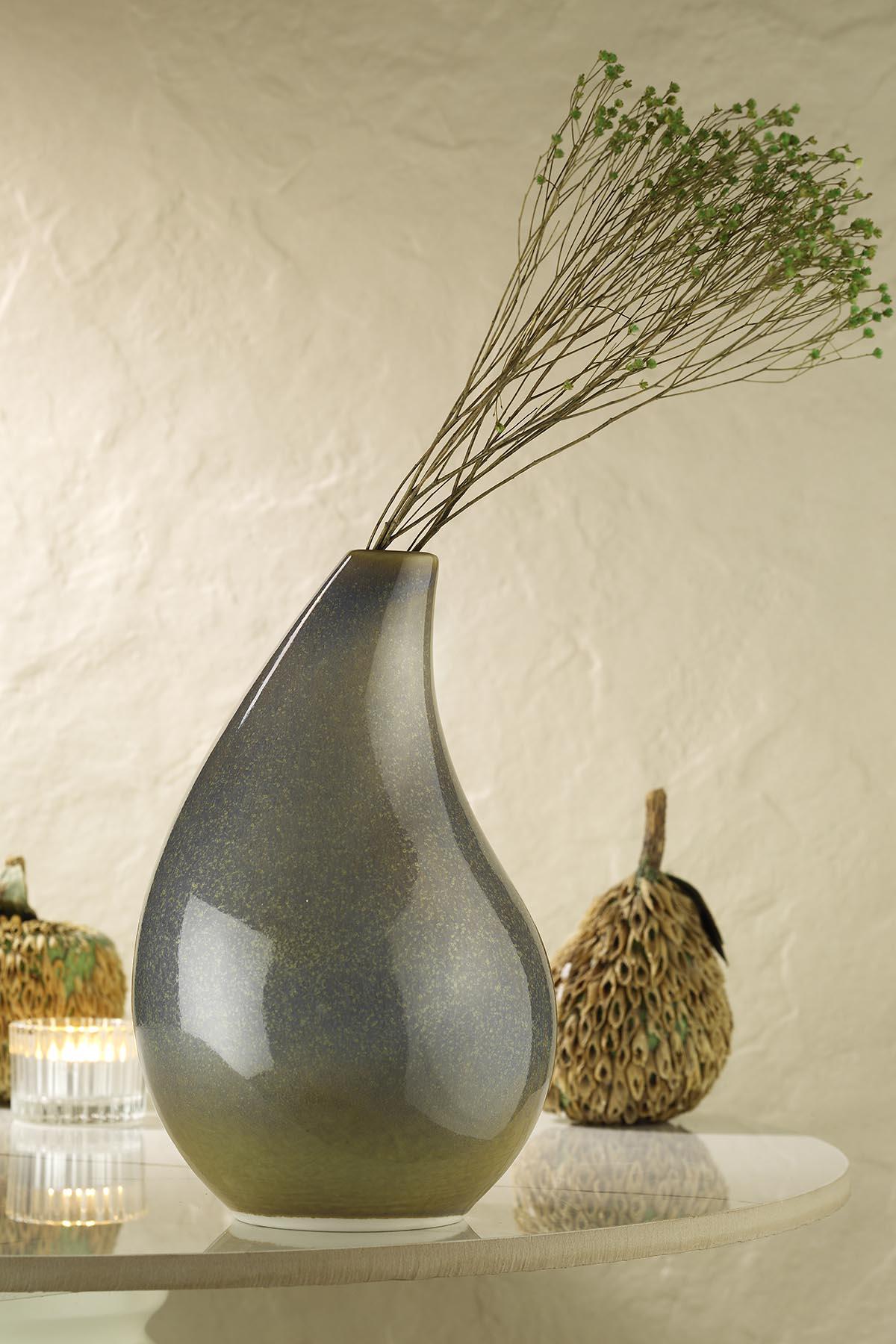 Kütahya Porselen Modern 20 cm Vazo Aytaşı
