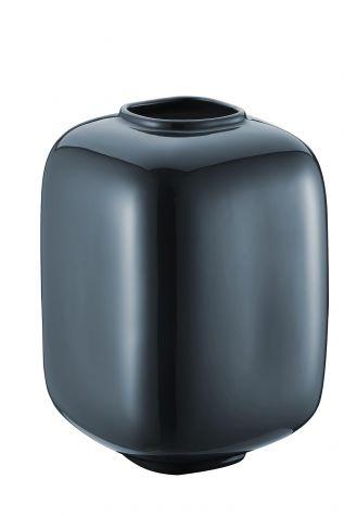 Kütahya Porselen Modern 29 Cm.Kapaklı Vazo Reaktif Sır Lacivert - Thumbnail (1)