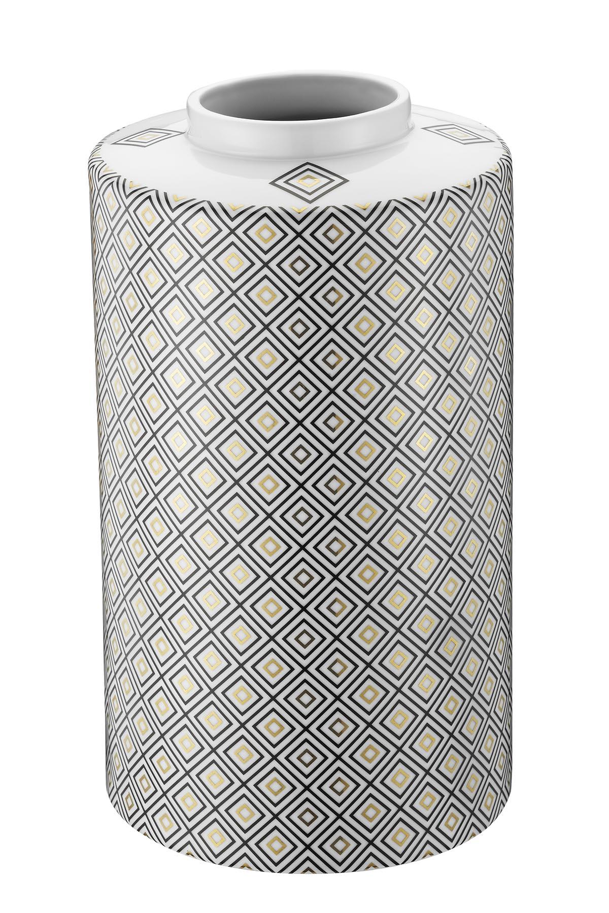 Kütahya Porselen Modern 35 cm Kapaklı Vazo 10917